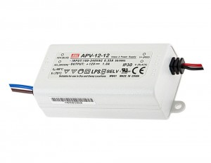 Zasilacz LED MeanWell 12W 12V DC 1A IP30