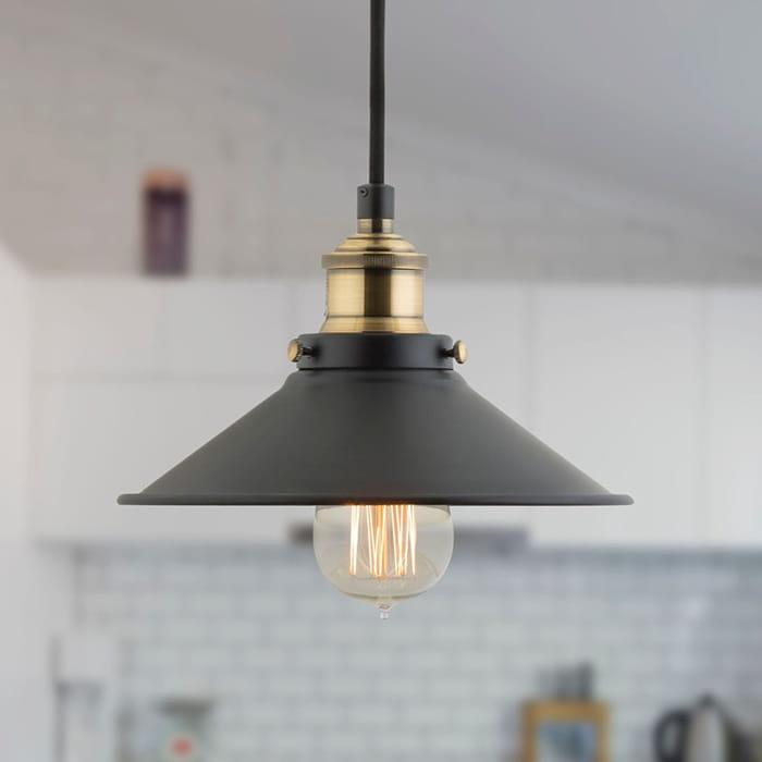 Lampa sufitowa wisząca Retro Edison Loft E27 LED czarna